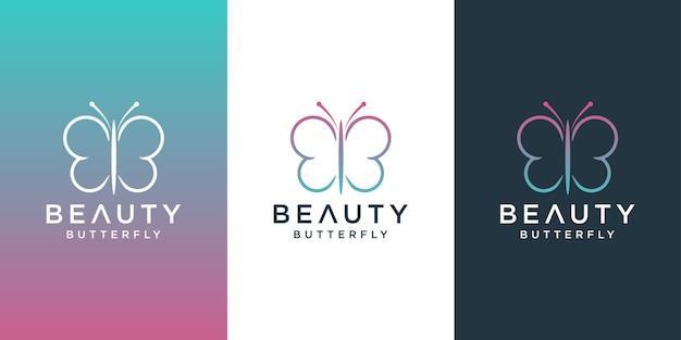 Desenho de logotipo de borboleta
