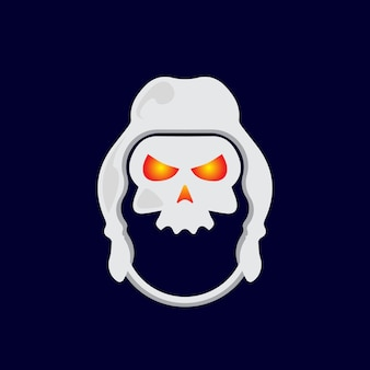 Desenho de logotipo de caveira de mascote moderno. ilustração vetorial