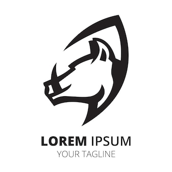Desenho de logotipo de linha de cabeça de javali vetor minimalista