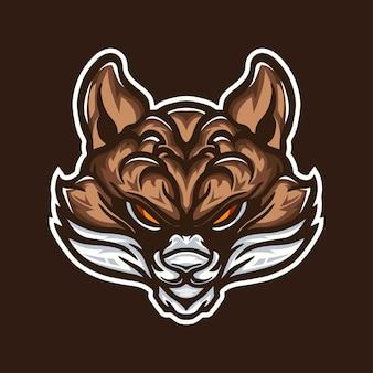 Desenho de logotipo de mascote de ilustração de raposa