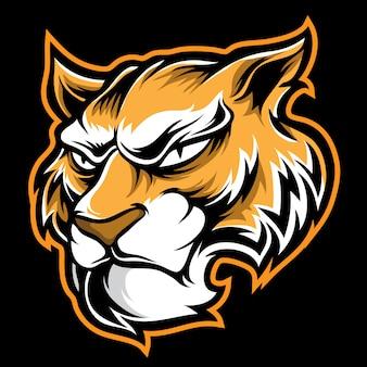 Desenho de logotipo de tigre