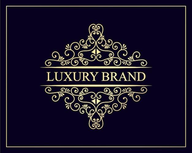 Desenho de logotipo retro vintage real de luxo de herança desenhada com moldura decorativa de emblema para texto e tipografia premium vector