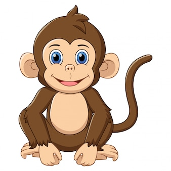 Desenho de macaco bonito