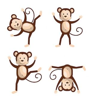 Desenho de macaco engraçado