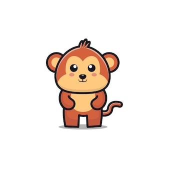 Desenho de macaco fofo