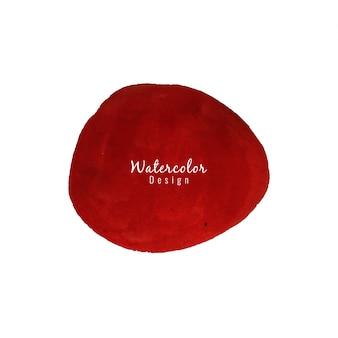 Desenho de mancha de aguarela vermelha arredondada