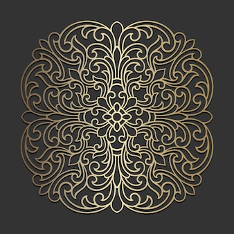 Desenho de mandala ornamentado. padrão de círculo ornamental.