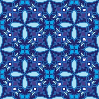 Desenho de mandala ornamental padrão sem emenda de fundo abstrato