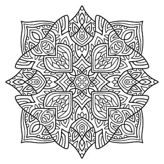 Desenho de mandala. página de livro para colorir