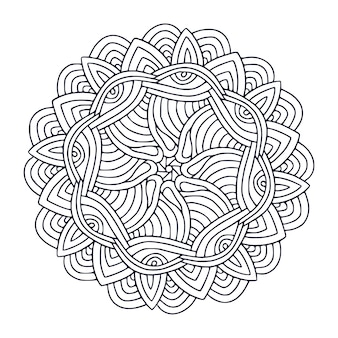 Desenho de mandala página para colorir livro