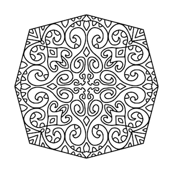 Desenho de mandala preto e branco