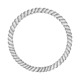 Desenho de mão de círculo de corda