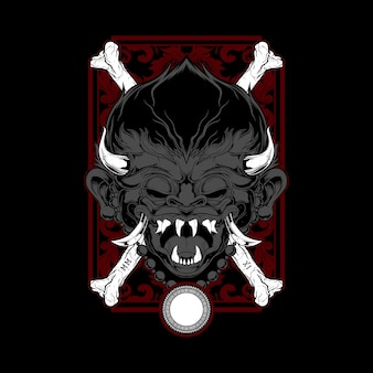 Desenho de mão de demônio