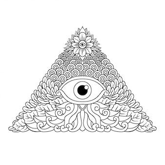 Desenho de mão de illuminati
