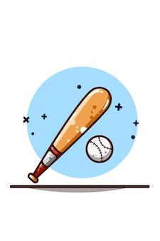 Desenho de mão de ilustração de beisebol