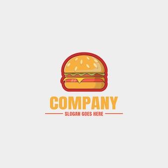 Desenho de mão de logotipo de hambúrguer