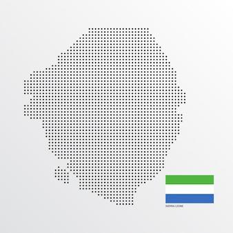 Desenho de mapa de serra leoa