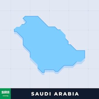 Desenho de mapa moderno da arábia saudita