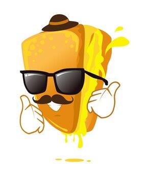 Desenho de mascote de ícone de sanduíche em vetor