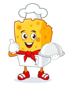 Desenho de mascote de queijo