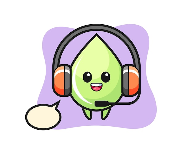 Desenho de mascote de suco de melão como serviço ao cliente, design de estilo fofo para camiseta, adesivo, elemento de logotipo