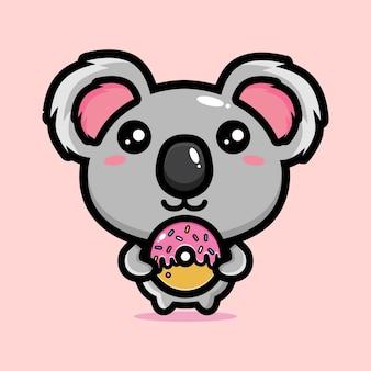 Desenho de mascote do panda fofo