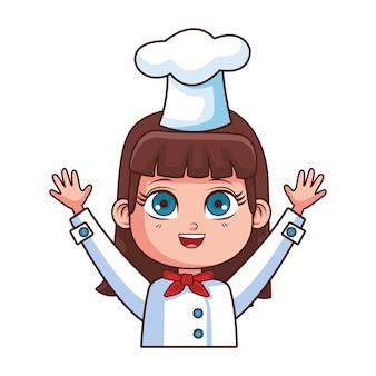 Desenho de menina do chef