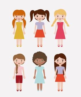 Desenho de meninas