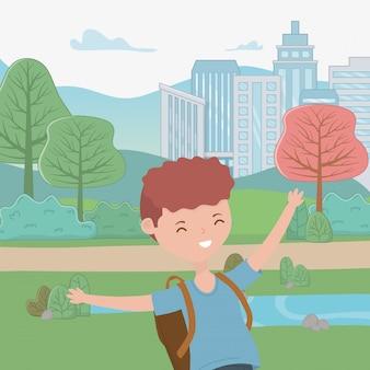 Desenho de menino adolescente