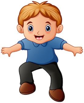 Desenho de menino feliz