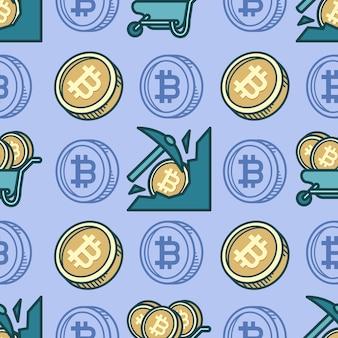 Desenho de mineração de bitcoin de padrão uniforme