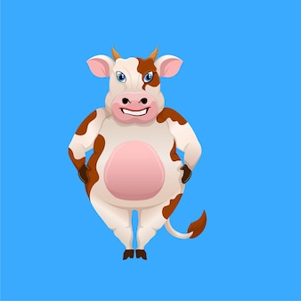 Desenho de modelo de mascote de vaca