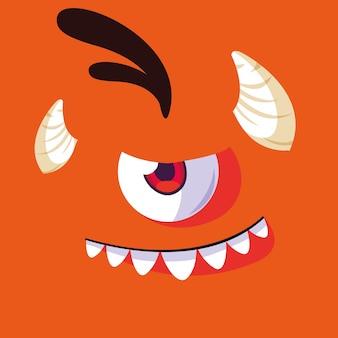 Desenho de monstro laranja