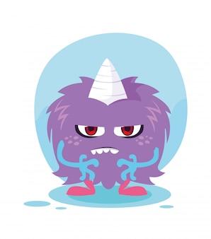 Desenho de monstro roxo