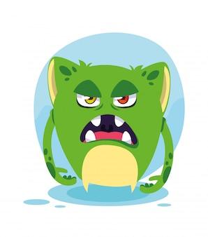 Desenho de monstro verde