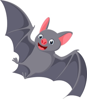 Desenho de morcego voador feliz
