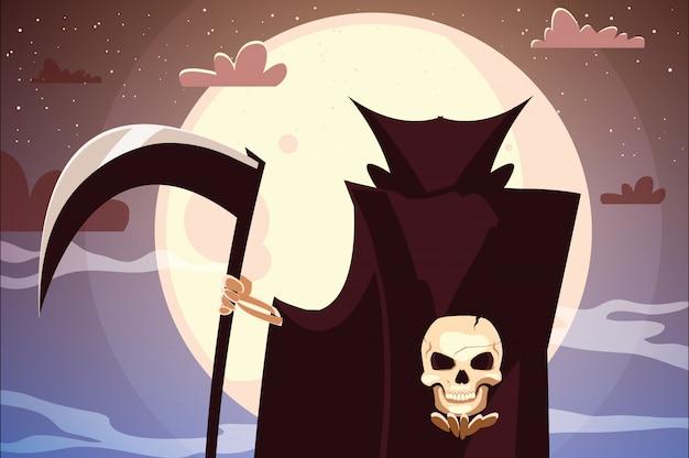 Desenho de morte do dia das bruxas