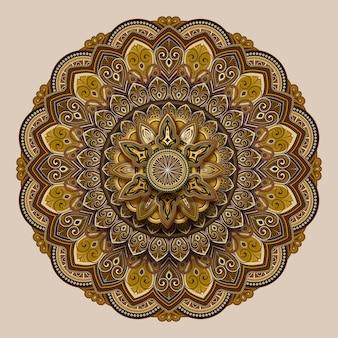 Desenho de motivos florais em tons de terra