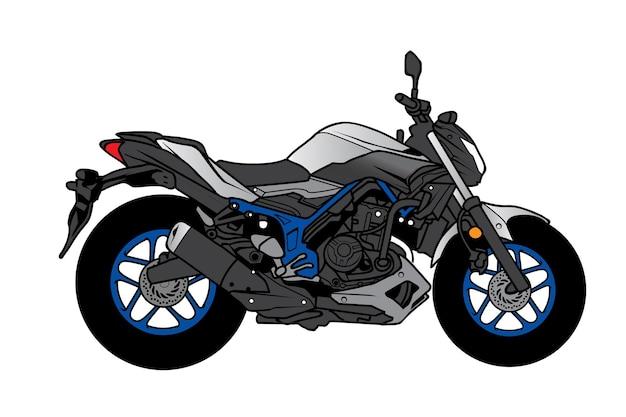 Desenho de motocicleta big bike