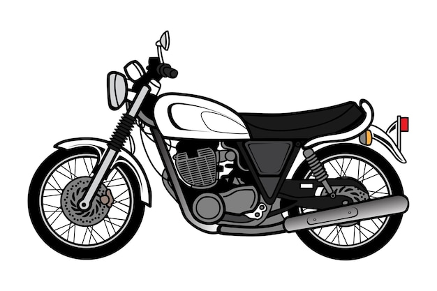 Desenho de motocicleta bigbike classic vintage