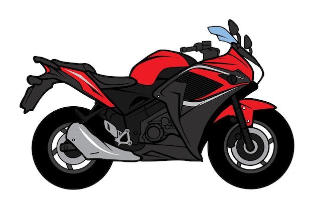 Desenho de motocicleta bigbike sport