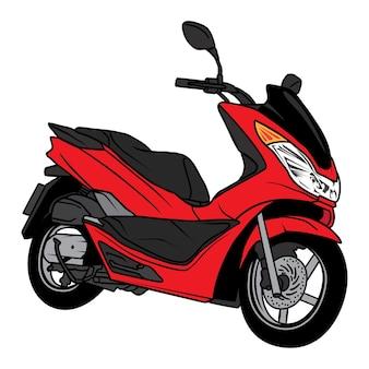 Desenho de motocicleta de scooter