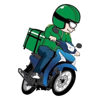 Desenho de motocicleta do entregador
