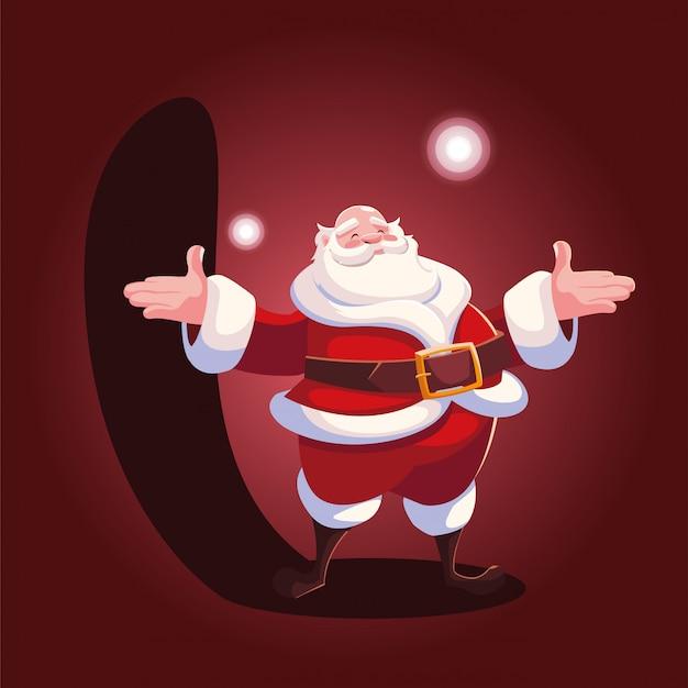 Desenho de natal do papai noel