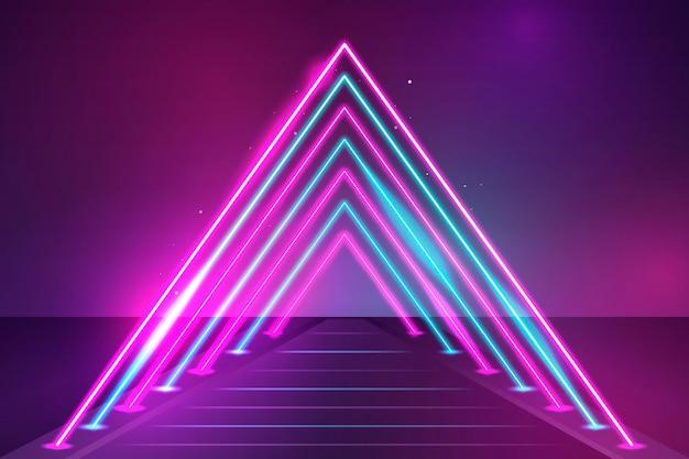 Desenho de néon de fundo colorido