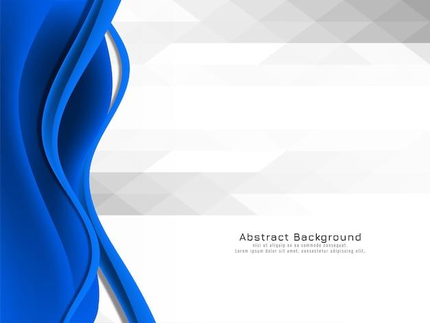 Desenho de onda azul elegante em fundo de mosaico