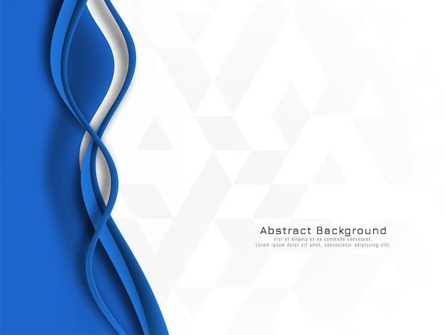 Desenho de onda azul elegante em vetor de fundo de mosaico