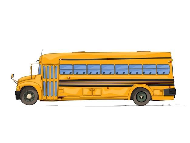 Desenho de ônibus escolar
