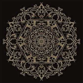Desenho de ornamento de mandala.