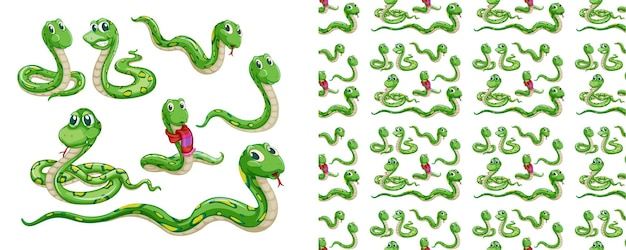 Desenho de padrão animal isolado e sem costura